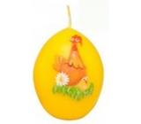 Zvířátka velikonoční svíčka žlutá vajíčko 54 g