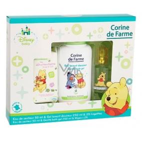 Corine de Farme Medvídek Pú parfémovaná voda pro děti 50 ml + sprchový gel 250 ml + vlhčené ubrousky 25 kusů, dárková sada