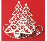Svícen kovový stříbrný strom 10,5 cm, houpací, na čajovou svíčku