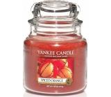 Yankee Candle Spiced Orange - Pomeranč se špetkou koření vonná svíčka Classic střední sklo 411 g
