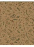 Nekupto Dárková papírová taška střední 24,5 x 19 x 8 cm Květy 568 KHM