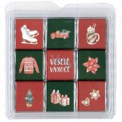 Nekupto Čokoládové puzzle vánoční Brusle 11 x 11,5 x 0,7 cm, 9 x 5 g