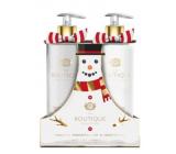 Grace Cole Toasted marshmallow & Snowdrops - Toastový marshmallow a sněženky tekuté mýdlo dávkovač 500 ml + mléko na ruce dávkovač 500 ml, kosmetická sada péče o ruce