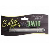 Nekupto Svítící propiska se jménem David, ovládač dotykových nástrojů 15 cm