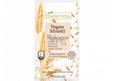 Bielenda Vegan Muesli Pšenice + Oves + Lněné semínko 2v1 hydratační maska a peeling 8 g