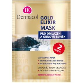 Dermacol Gold Elixir Omlazující maska s kaviárem 2 x 8 g