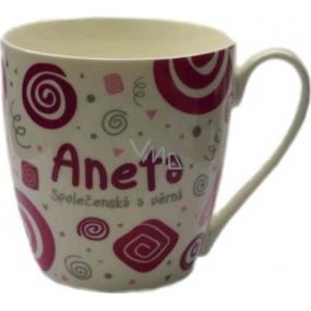 Nekupto Twister hrnek se jménem Aneta růžový 0,4 litru