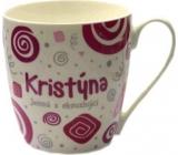 Nekupto Twister hrnek se jménem Kristýna růžový 0,4 litru 038 1 kus
