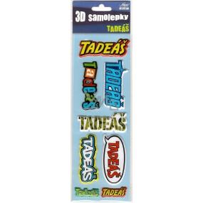 Nekupto 3D Samolepky se jménem Tadeáš 8 kusů