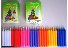 Romantické světlo Vánoční svíčky krabička hoření 90 minut minut bílé 12 kusů