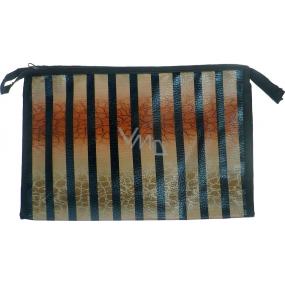 Etue Béžovo-černé pruhy 27 x 18 x 7 cm 70270