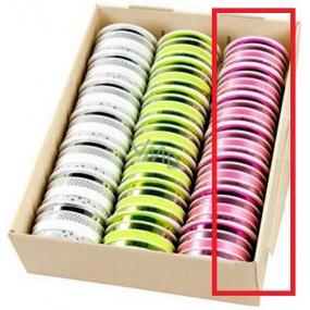 Ditipo Stuha multi trendy colours růžová mix 16 m x 10 mm