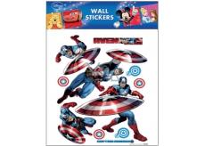 Room Decor Samolepky na zeď Marvel Captain America 30 x 30 cm