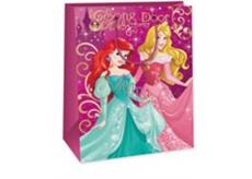 Ditipo Disney Dárková papírová taška dětská XL Princess, Song Door 33 x 10,2 x 45,7 cm