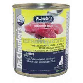 Dr. Clauders Krůta s bramborem kompletní superprémiové krmivo 84% masa pro dospělé psy 800 g