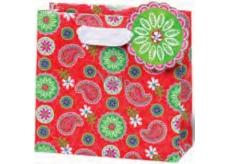 BSB Dárková papírová taška malá 14,5 x 15 x 6 cm Červená LDT 359-CD
