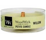 WoodWick Willow - Vrbové květy vonná svíčka s dřevěným knotem petite 31 g