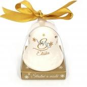 Nekupto Vánoční keramický zvoneček se jménem Eliška 6,5 cm, x 5,5 cm