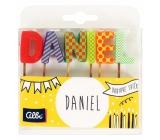 Albi Dortové svíčky jméno - Daniel, 2,5 cm