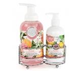 Michel Design Works Růžový grapefruit pěnící tekuté mýdlo na ruce 530 ml + mléko na ruce a tělo 236 ml, kosmetická sada