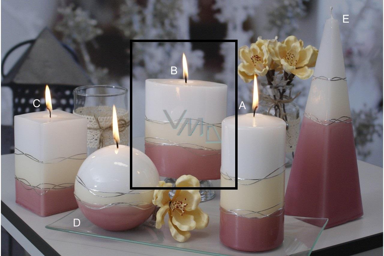 Lima Verona svíčka starorůžová elipsa 110 x 125 mm 1 kus