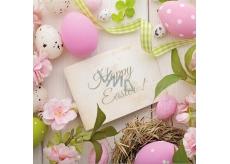 Aha Velikonoční papírové ubrousky Happy Easter! 33 x 33 cm 3 vrstvé 20 kusů
