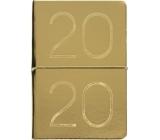 Albi Diář 2020 týdenní metalický Zlatý 19 x 13 x 0,7 cm