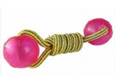 Sum-Plast Plast Činka bavlněná s platovými míčky pro psy 5 cm
