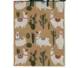 Nekupto Dárková papírová taška 24,5 x 19 x 8 cm Lama 566 KHM