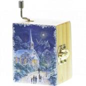 Epee Vánoční hrací skříňka Silent Night - Tichá noc 5,5 x 6,6 x 3,6 cm