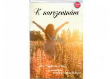 Albi Hrací přání do obálky K narozeninám Dívka na louce Chci tančit Mirai 14,8 x 21 cm