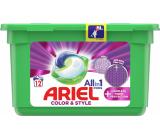 Ariel All in 1 Pods Color & Style Complete Fiberer Protection gelové kapsle na praní barevného prádla 12 kusů 302,4 g