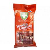 Green Shield Wood & Laminate 4v1 na dřevo a lamináty antibakteriální vlhčené ubrousky 50 kusů