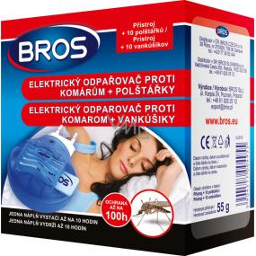 Bros Elektrický odpařovač proti komárům + polštářky 10 kusů