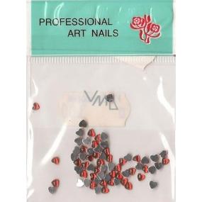 Professional Art Nails ozdoby na nehty kamínky srdíčka červené 1 balení