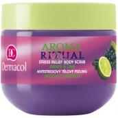 Dermacol Aroma Ritual Hrozny s limetkou Antistresový tělový peeling 300 g body scrub Grape and Lime