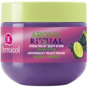 Dermacol Aroma Ritual Hrozny s limetkou Antistresový tělový peeling 300 g Grape and Lime