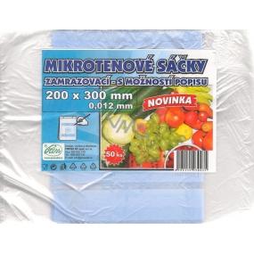 Press Mikrotenové sáčky zamrazovací s možností popisku 200 x 300 mm 50 kusů