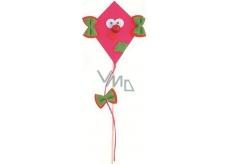 Dráček z filcu s pohyblivýma očima růžový 8 + 17 cm