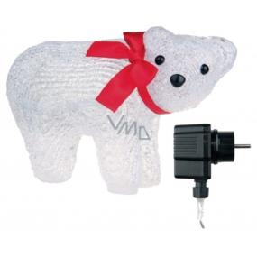 Emos Medvěd lední 20,3x13,3cm-16 LED+5m přívodní kabel