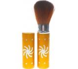 Kosmetický štětec na pudr s krytkou zlatý 30350 8,5 cm