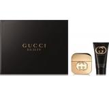 Gucci Guilty toaletní voda pro ženy 50 ml + tělové mléko 100 ml, dárková sada