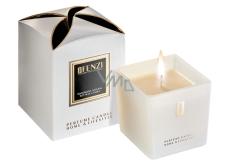 jFenzi La Amore Sojová vonná svíčka s vůní parfému Dior Jadore Ručně vyrobena bílá 200 g
