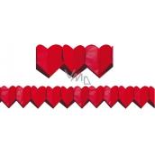 Girlanda Srdíčka červená velká 400 x 19 cm