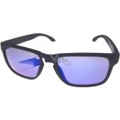 Dudes & Dudettes Sluneční brýle pro děti černé modrá skla JK4420