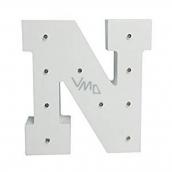 Nekupto Dřevěné LED písmeno N dekorace 16 cm NLE 014