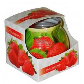 Admit Strawberry - Jahoda dekorativní aromatická svíčka ve skle 80 g