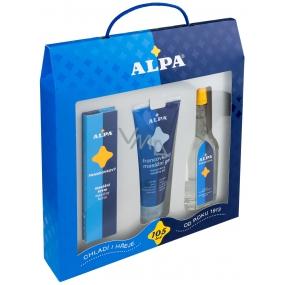Alpa Francovka lihový bylinný roztok 60 ml + masážní gel 100 ml + masážní krém 40 g, kosmetická sada