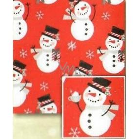 Nekupto Dárkový balicí papír 70 x 500 cm Vánoční Červený, sněhuláci