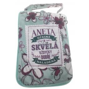 Albi Skládací taška na zip do kabelky se jménem Aneta 42 x 41 x 11 cm